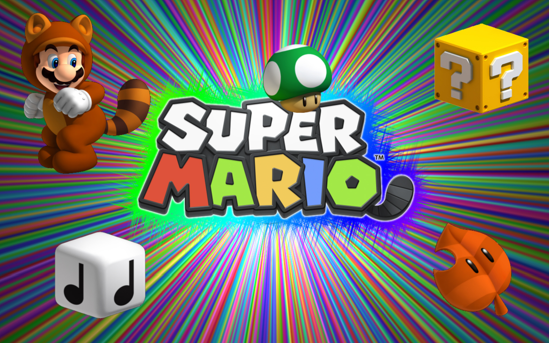 Super Mario 3d Land Wallpaper Of Power Ups