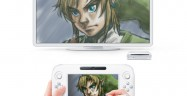 Wii U Link from Zelda Drawing Screenshot On Wii U Controller and TV