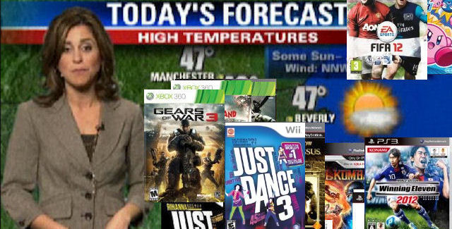 Games Weather Report of Week 40 in 2011