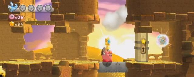 Kirby's Return to Dreamland Energy Spheres Screenshot