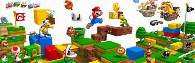 Super Mario 3D Land Unboxing Art