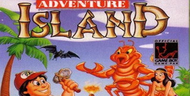 Adventure Island GameBoy box