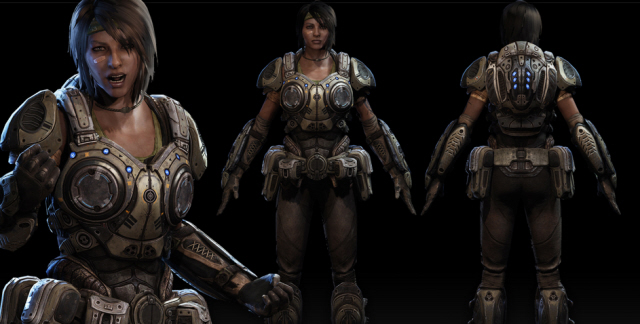 Gears of War 3 Char Character Model