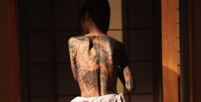 Sexy Yakuza Girl Tattoo