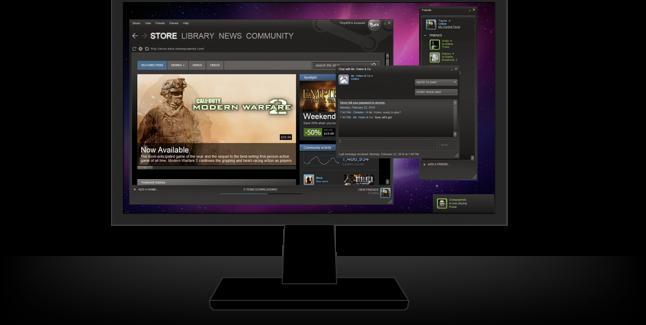 Steam PC monitor
