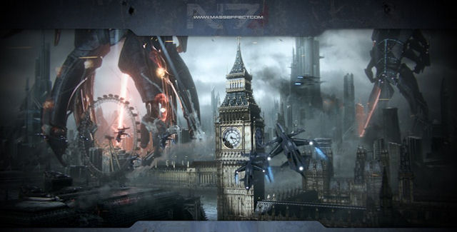 Mass Effect 3 Reapers Attack Earth