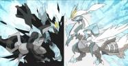 Pokemon Black and White 2 Black Kyurem and White Kyurem Artwork