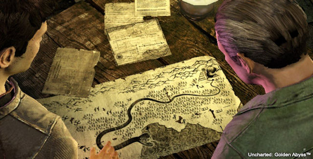 Uncharted Golden Abyss Treasure Map Screenshot