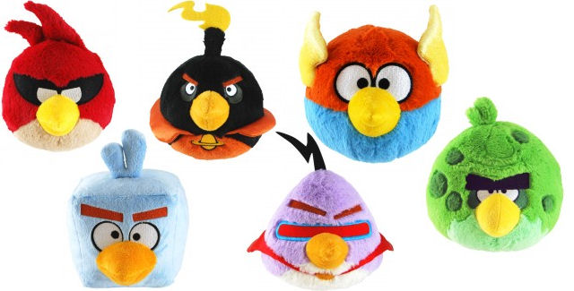 Angry Birds Toys : Angry birds space plush toys available for pre order