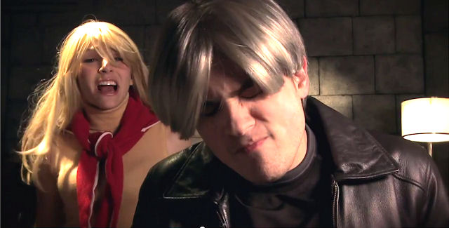 Claire & Leon in real-life Resident Evil 4