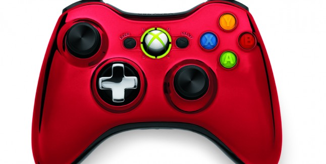 Xbox 360 Chrome Controller Red Color