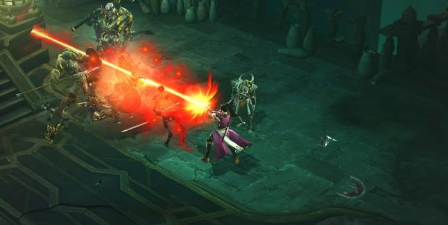 Diablo 3 PC Screenshot Wizard VS Skeleton King