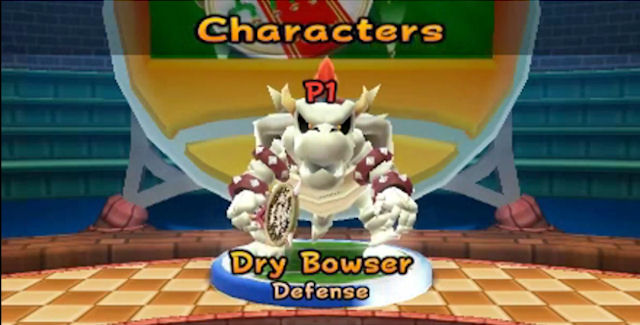 Mario Tennis Open Dry Bowser Character Roster Screenshot