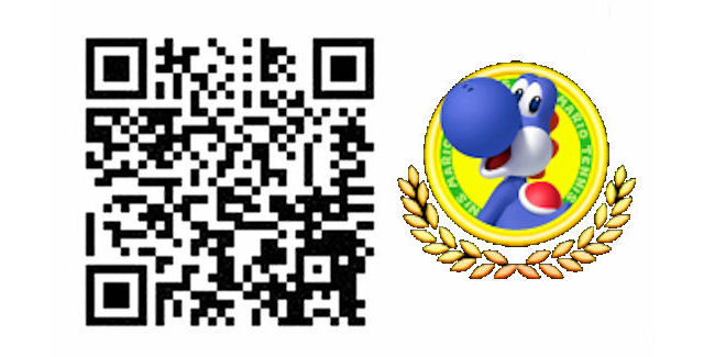 Mario Tennis Open QR Code Blue Yoshi Costume for Mii Character