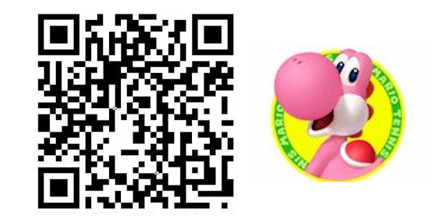 Mario Tennis Open QR Code Pink Yoshi Costume for Mii Character