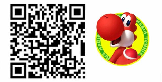 Mario Tennis Open QR Code Red Yoshi Costume for Mii Character