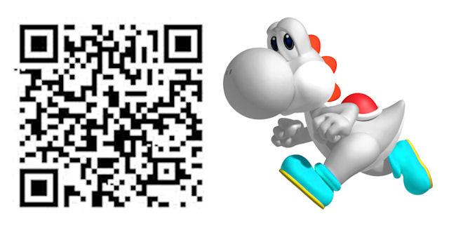 Mario Tennis Open QR Code White Yoshi Costume for Mii Character