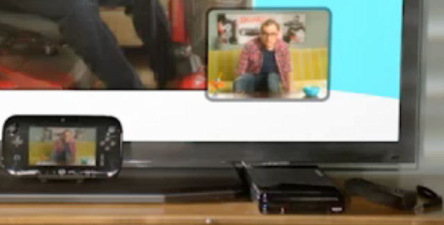 Black Color Wii U & GamePad shown during video chat