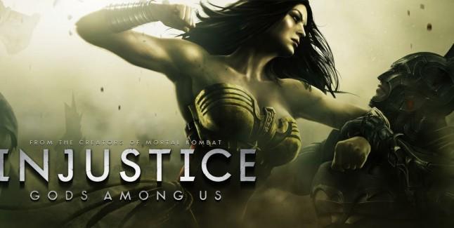 Injustice: Gods Among Us logo with Wonder Woman & Batman