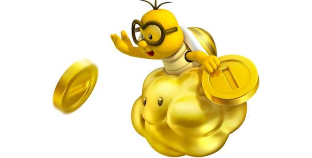New Super Mario Bros 2 Gold Lakitu