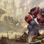 Transformers Fall of Cybertron Optimus Prime & Bumblebee Wallpaper