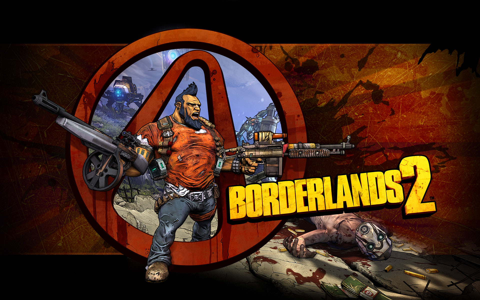 Borderlands 2 Logo Wallpaper Borderlands 2 Logo Text By Mireou On