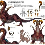 Lightning Returns: Final Fantasy XIII Red Dragon Monster Artwork