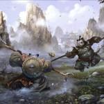 World of Warcraft: Mists of Pandaria Battle Wallpaper