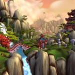 World of Warcraft: Mists of Pandaria Cloud City Wallpaper