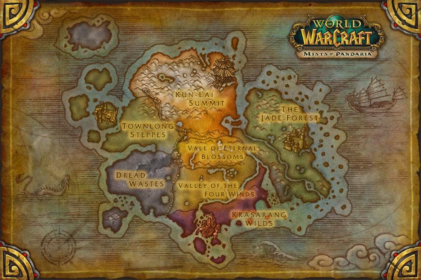 World Of Warcraft Mists Of Pandaria Map