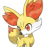 Pokemon X and Y Fennekin Artwork