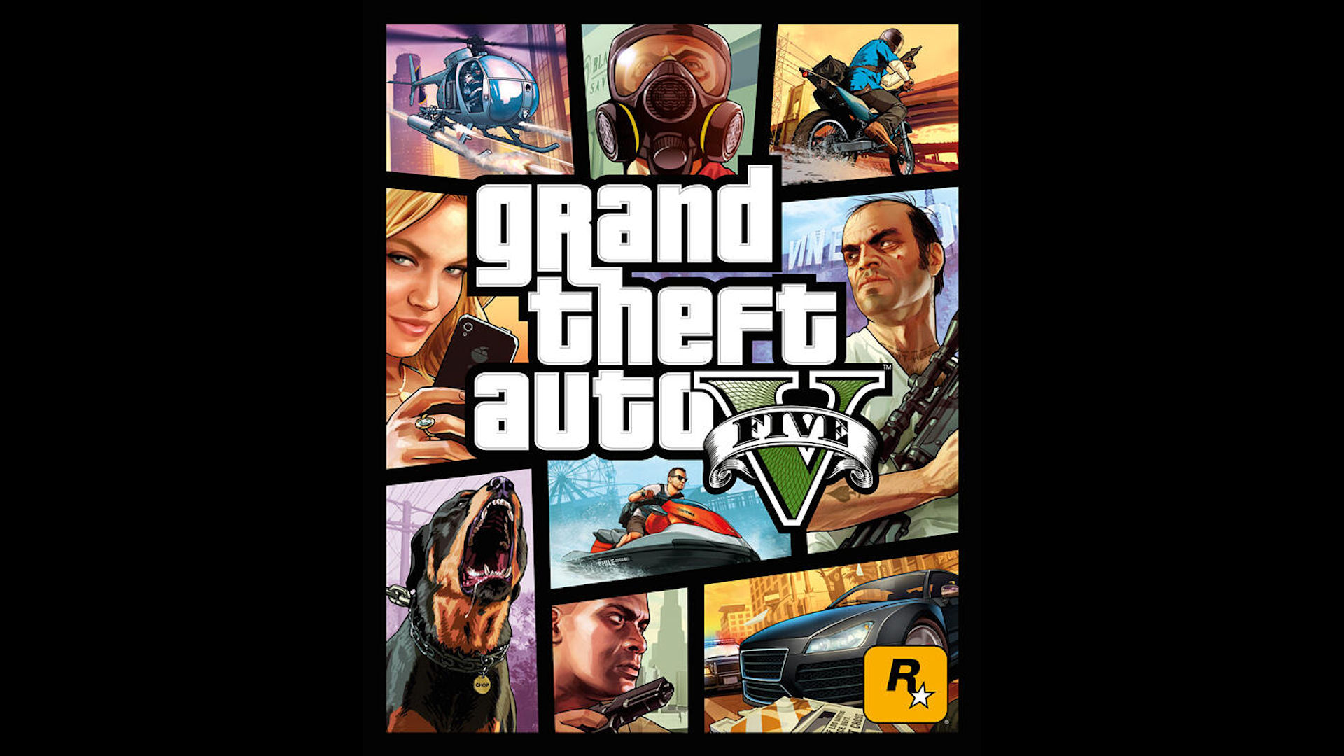 Grand Theft Auto 5 Boxart Wallpaper