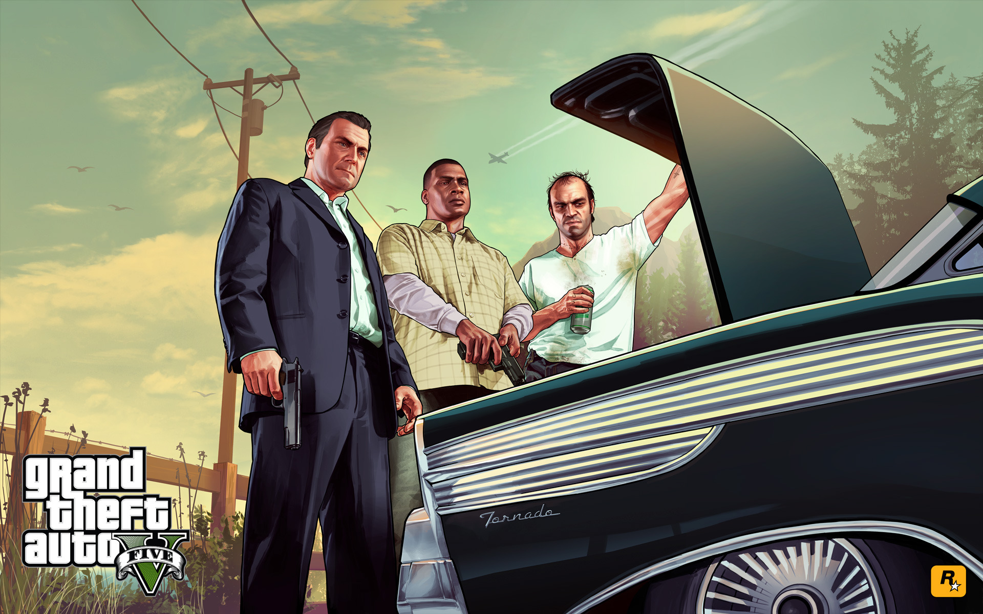 Grand Theft Auto 5 Characters Wallpaper