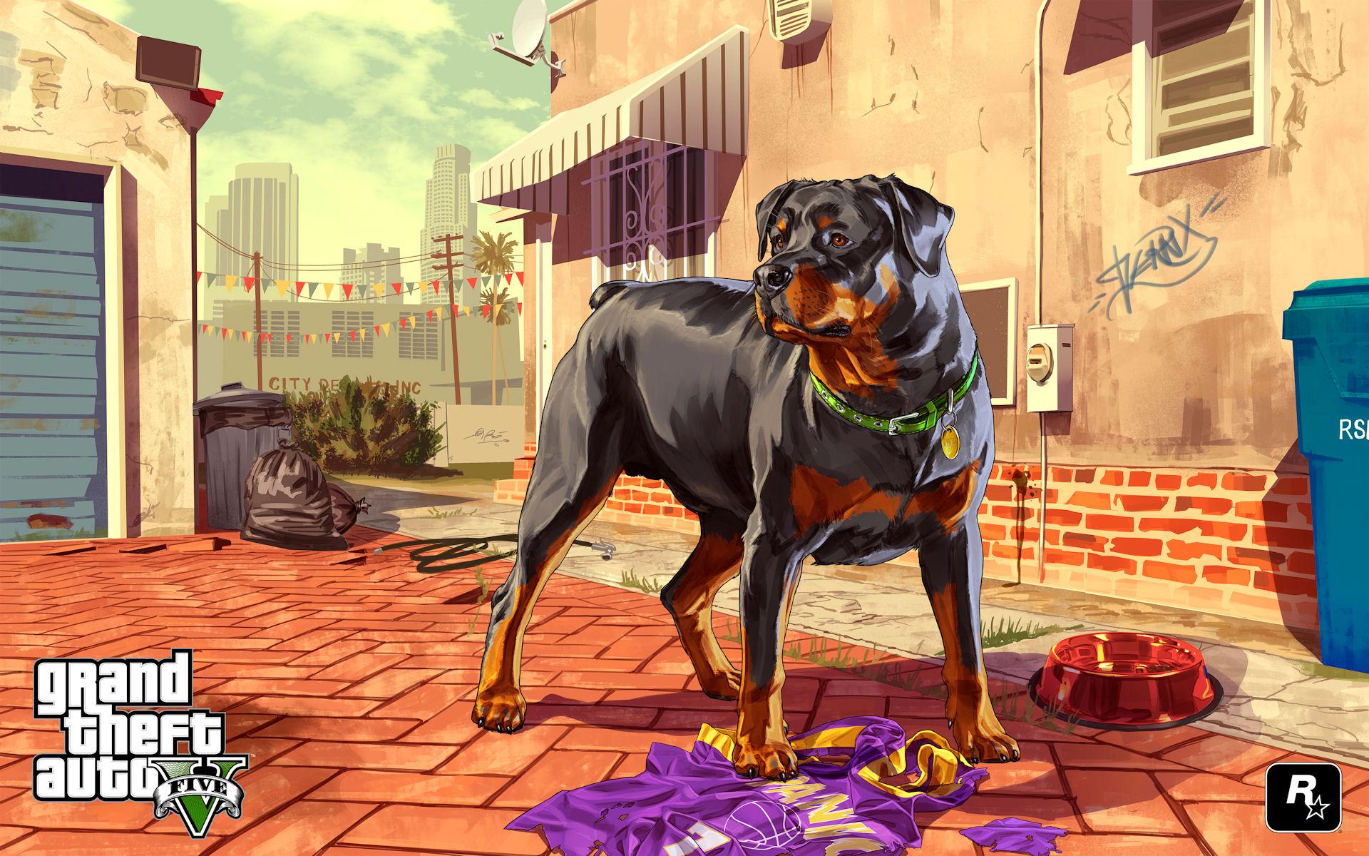 Grand Theft Auto 5 Chop Wallpaper