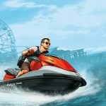 Grand Theft Auto 5 Franklin Michael Jetski Wallpaper
