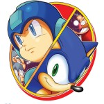 Sonic and Mega Man: When Worlds Collide MegaMan and Sonic Artwork