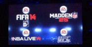FIFA 14, Madden NFL 25, NBA LIVE 14, EA Sports UFC logos