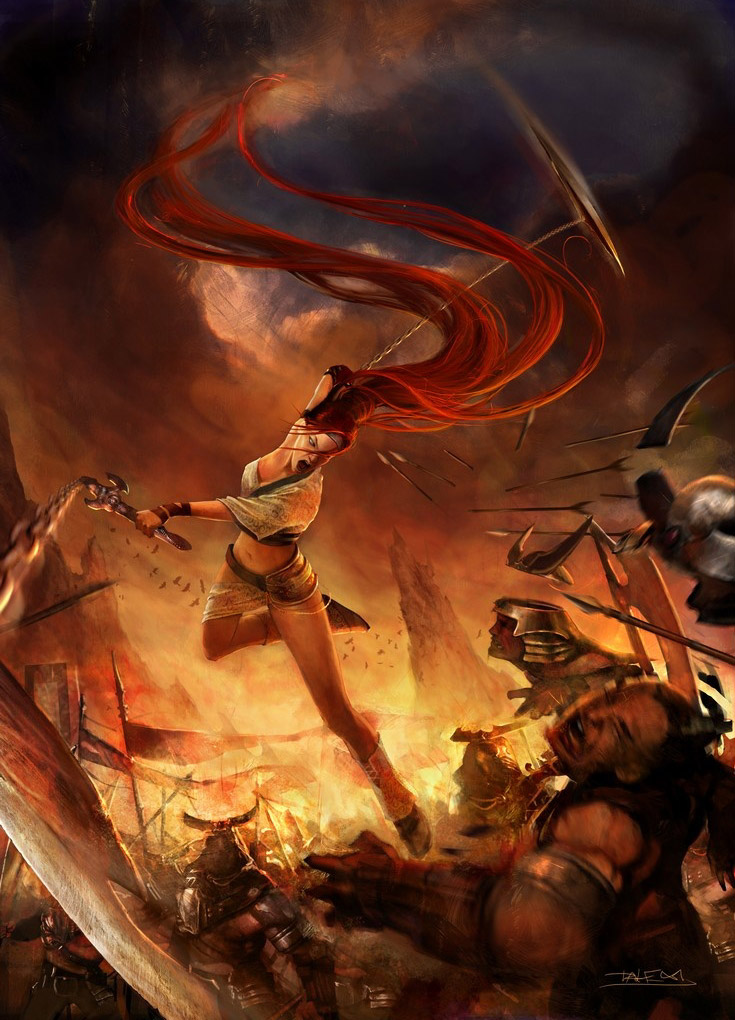Heavenly Sword Nariko Battle Artwork