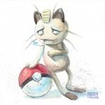 Pokemon 052 Meowth Artwork