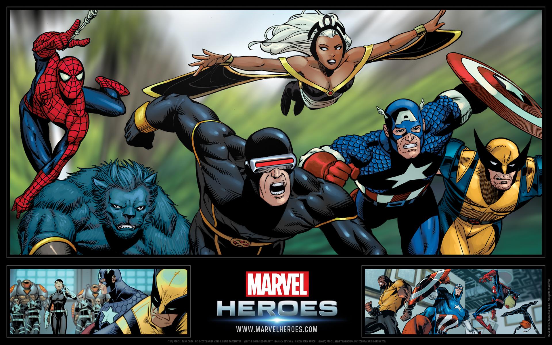 Marvel Heroes Wallpaper 1