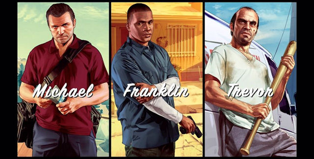 Grand Theft Auto 5 main characters