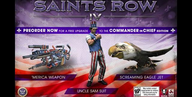 Saints Row 4 Pre-order Bonus