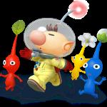 Super Smash Bros Wii U and 3DS Captain Olimar & Pikmin Artwork