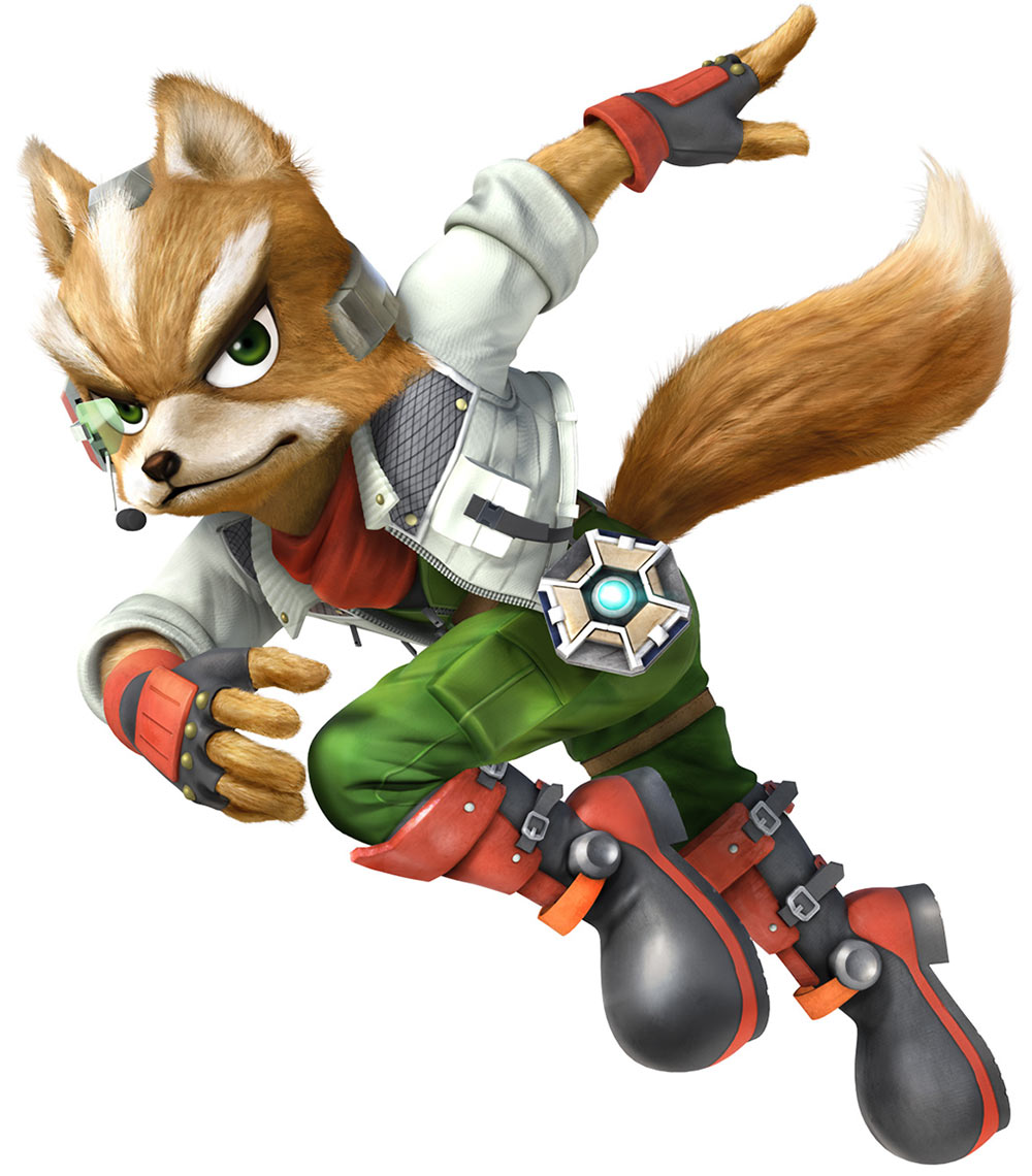 Super Smash Bros Wii U And 3ds Fox Mccloud Artwork