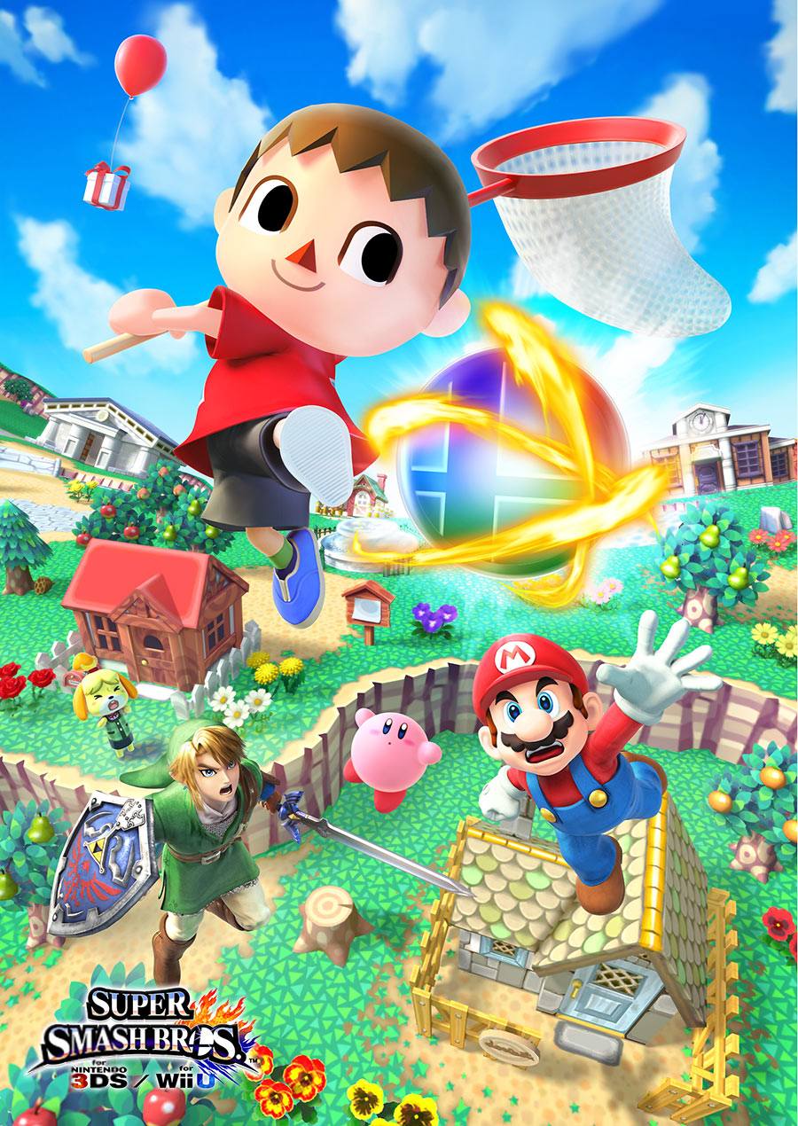 Super Smash Bros Wii U and 3DS Villager Artwork