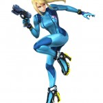 Super Smash Bros Wii U and 3DS Zero Suit Samus Artwork