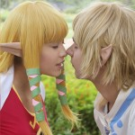 Zelda and Link Kiss