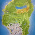 Grand Theft Auto 5 World Map