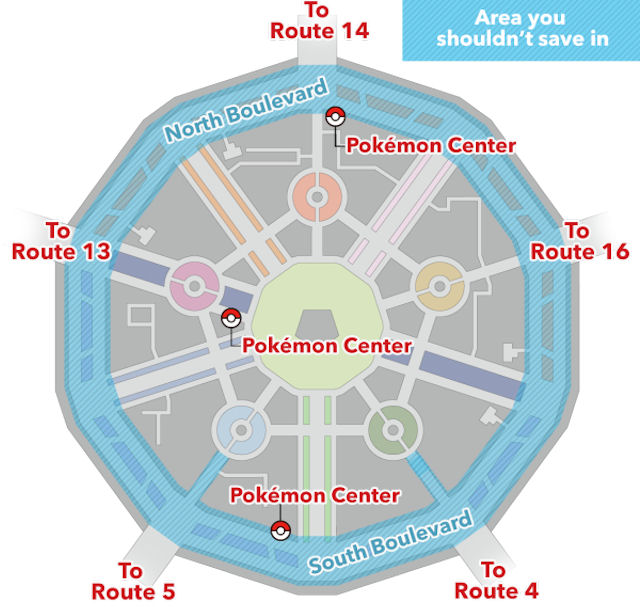 Pokemon X and Y Lumiose City Glitch Map