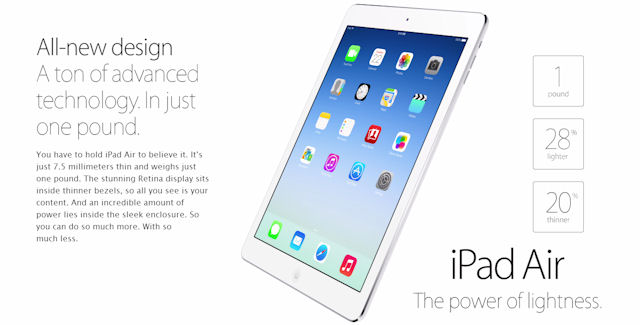 Giveaway iPad Air